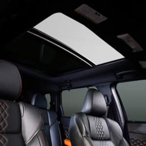 Mitsubishi Outlander comes with an available extra large panoramic sunroof