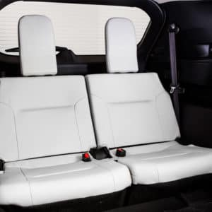 Mitsubishi Outlander has flexible seating for up to seven passengers