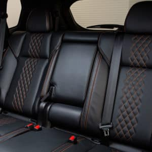 Outlander offers passenger comfort in the second and third row seats