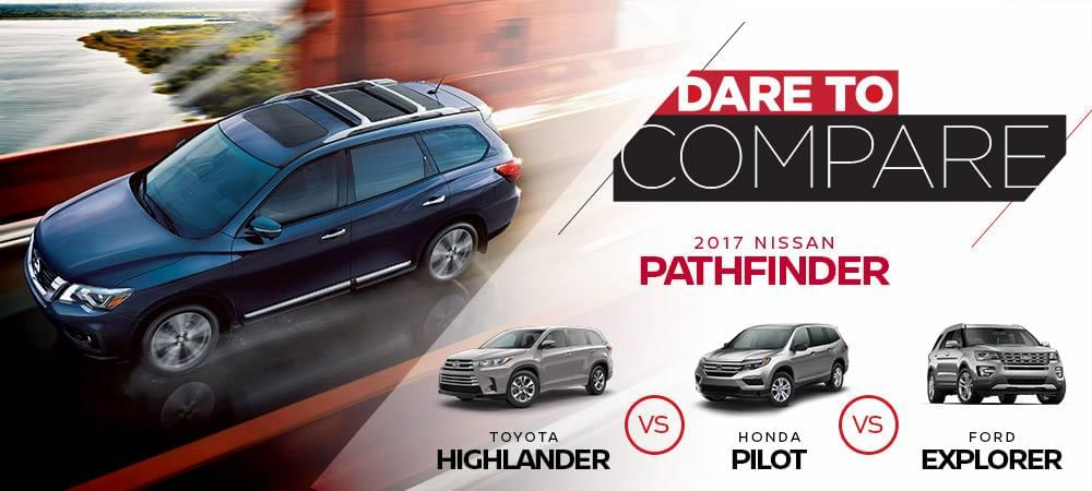 2017 Nissan Pathfinder Dare to Compare