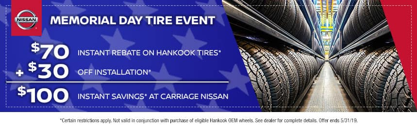 Nissan Memorial Day Tire Special