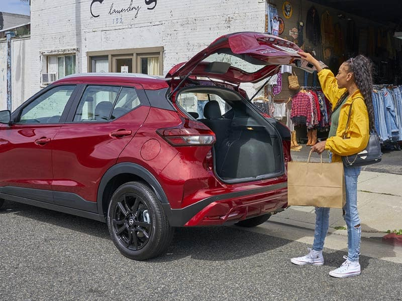 2021 Nissan Kicks crossover with flexible interior and cargo space