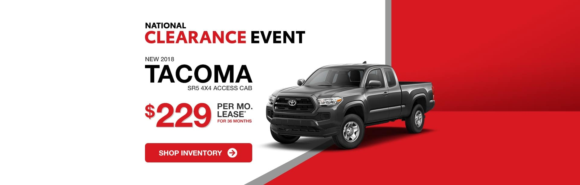 Toyota Tacoma Best Lease Special for Indianapolis, Indiana