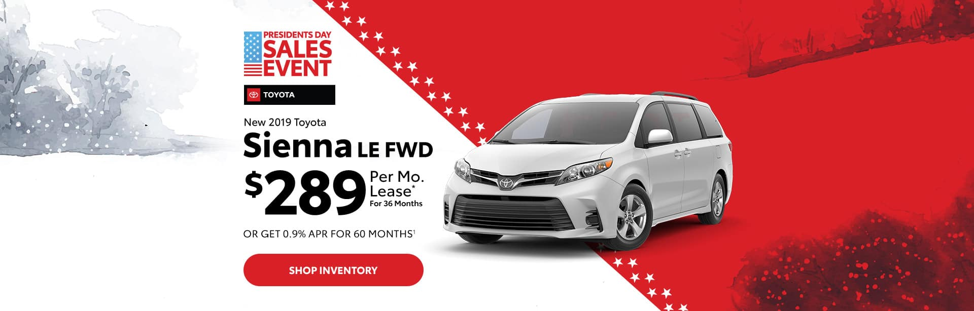 Toyota Sienna Lease special near Indianapolis, Indiana.