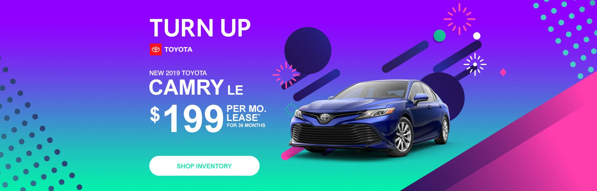 Toyota Camry Lease Special in Columbus, Indiana.