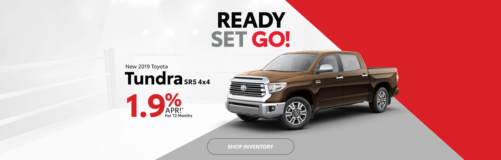 New Toyota Tundra 1.9% APR in Columbus, Indiana.