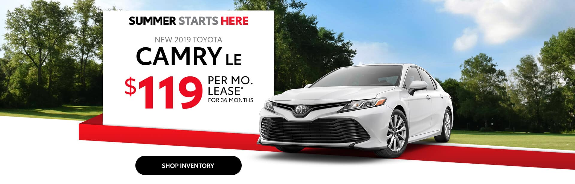 Lease a New Toyota Camry for $119/mo near Indianapolis, IN.