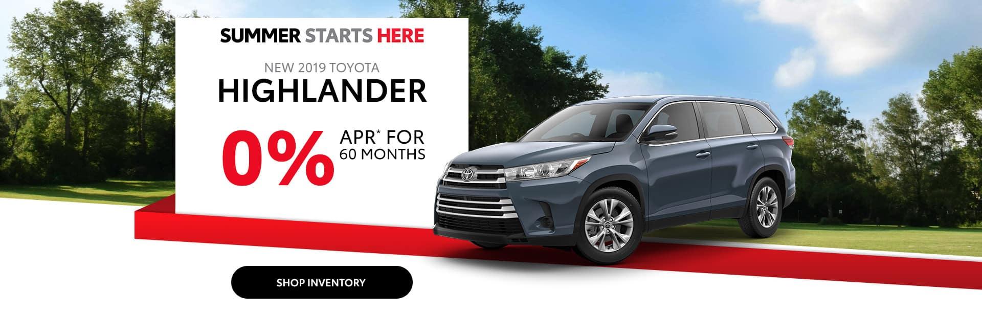 Finance a Toyota Highlander near Greenwood, Indiana.