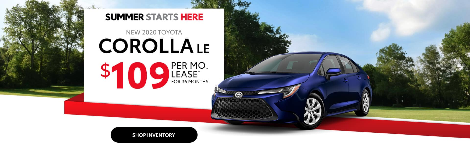 2020 Toyota Corolla Lease Special near Greenwood, Indiana.