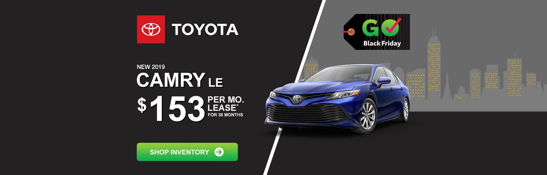Toyota Camry Black Friday Lease Special near Indianapolis, Indiana