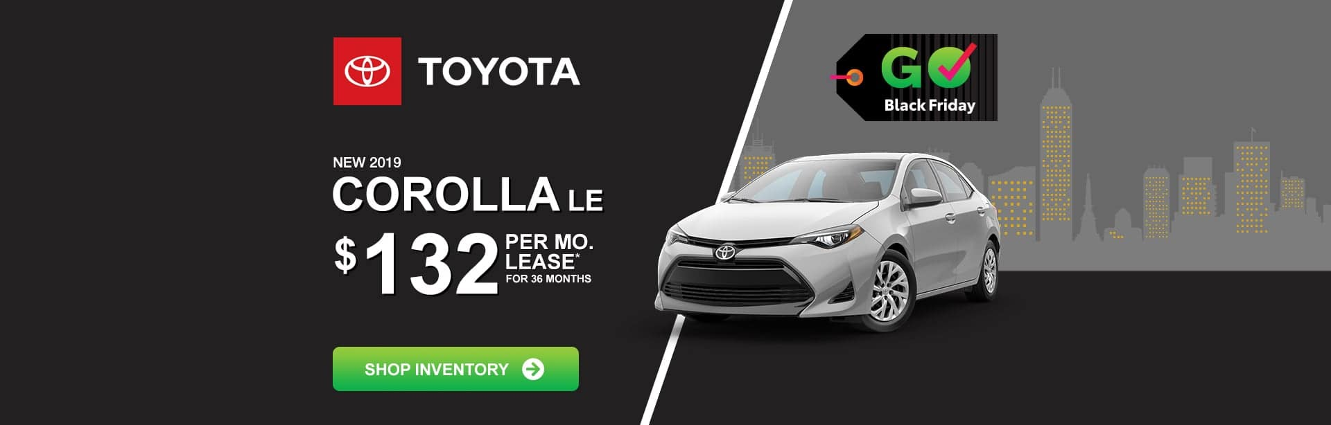 Toyota Corolla Black Friday Lease Special near Greenwood, Indiana