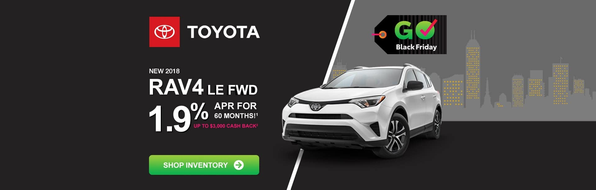 Toyota RAV4 Black Friday pricing near Indianapolis