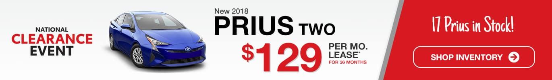 Indianapolis Toyota Prius TWO Inventory