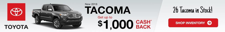 Toyota Tacoma Inventory Taylorsville, Indiana