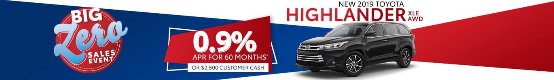 Toyota Highlander Inventory in Columbus, Indiana.