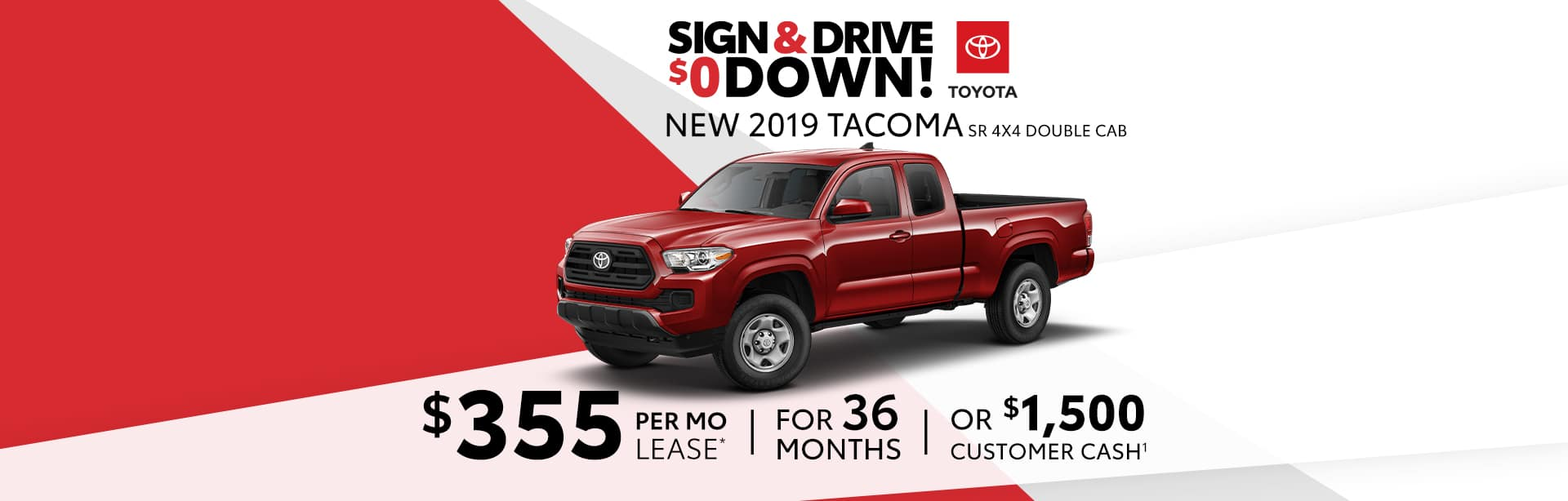 Lease a Toyota Tacoma for $299 a month near Avon, Indiana.