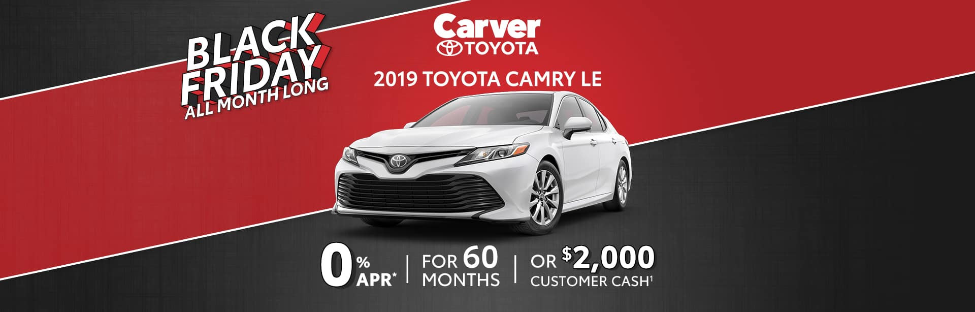 Finance a New Toyota Camry at 0% near Columbus, IN.
