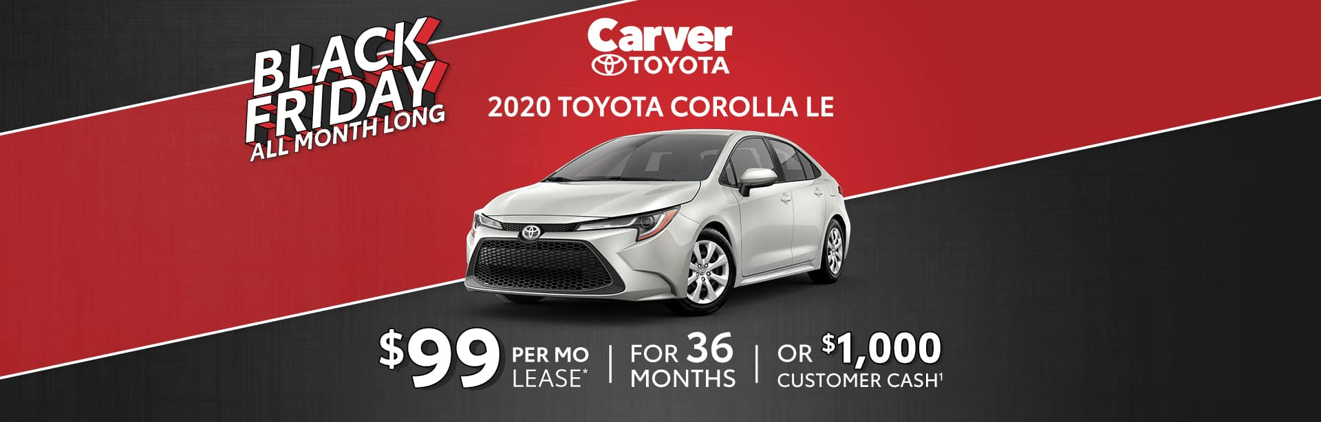 Toyota Corolla Lease Special near Greenwood, Indiana.