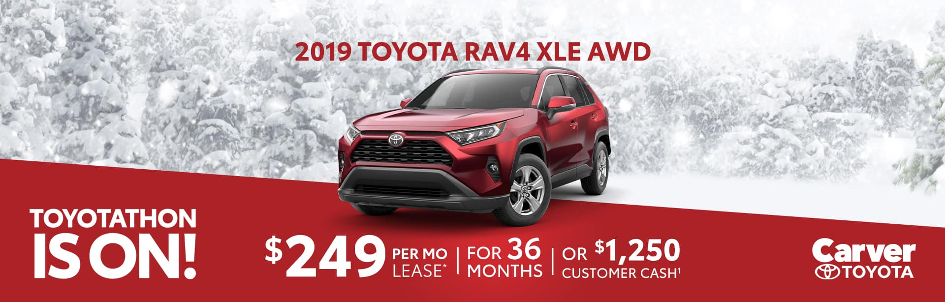 Lease a Rav4 for $249 a month, near Indianapolis, Indiana