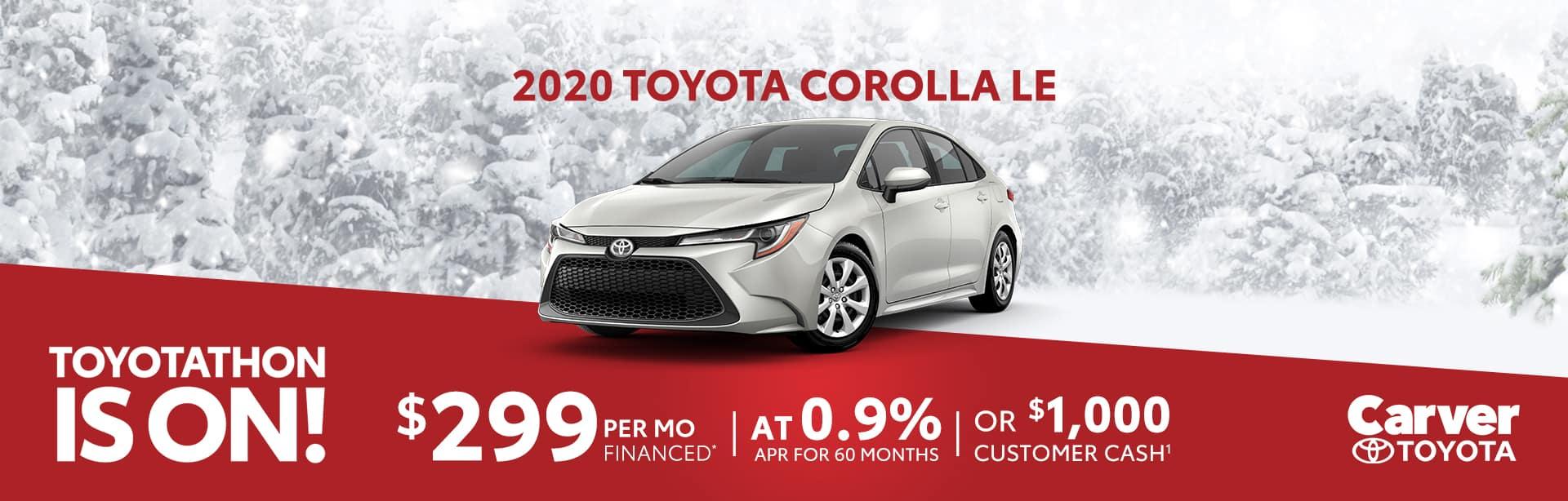 Finance a 2020 Corolla at 0.9% near Edinburgh, Indiana