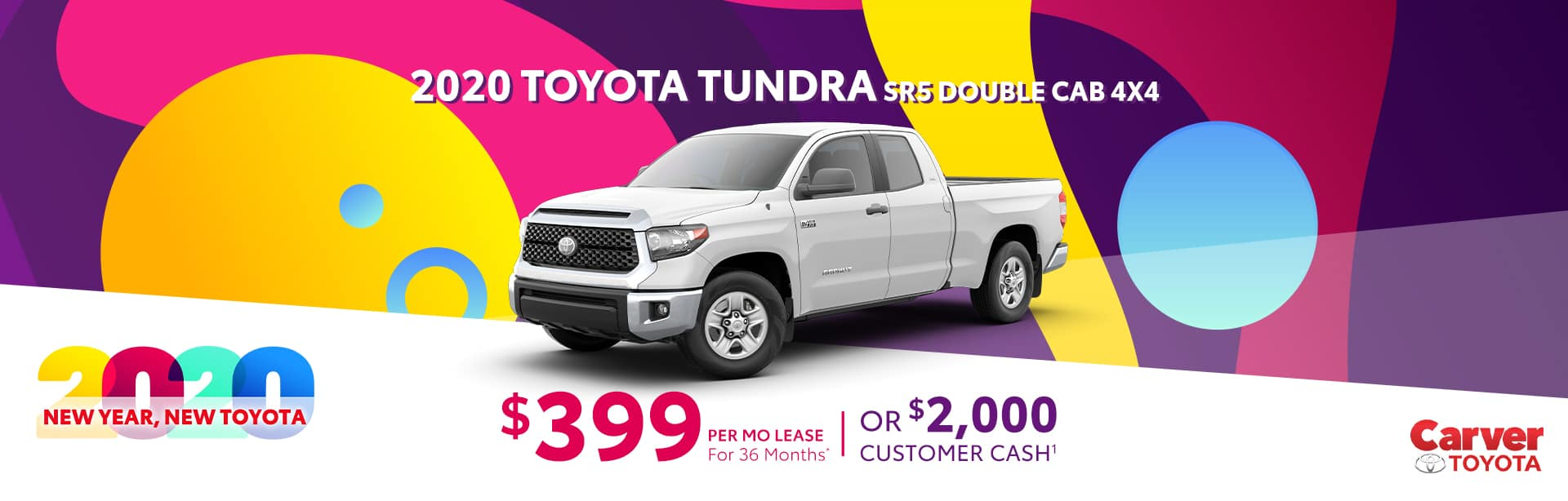 Lease a New Tundra for $399 a month near Columbus, Indiana