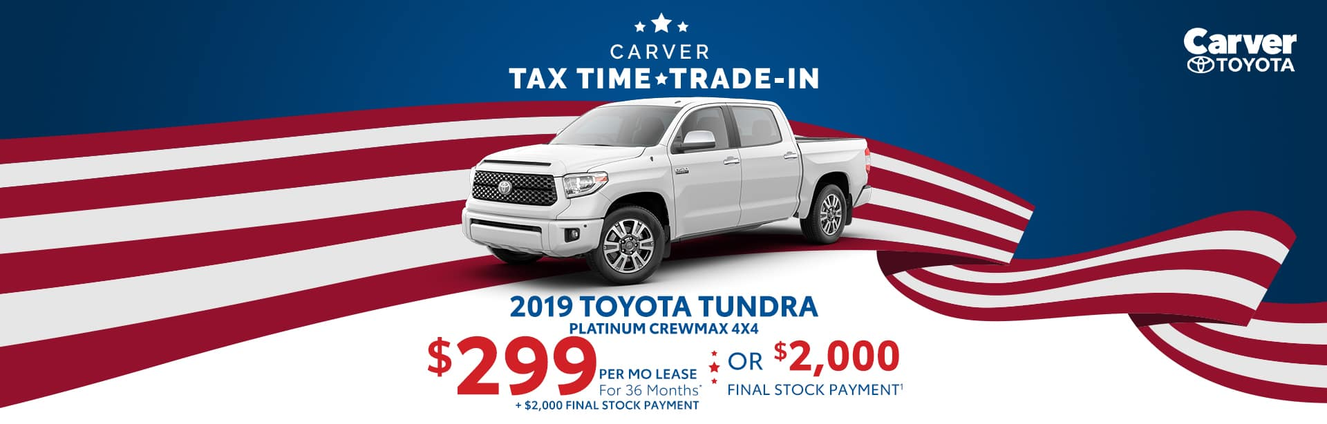 Lease a New Tundra for $299 a month near Columbus, Indiana