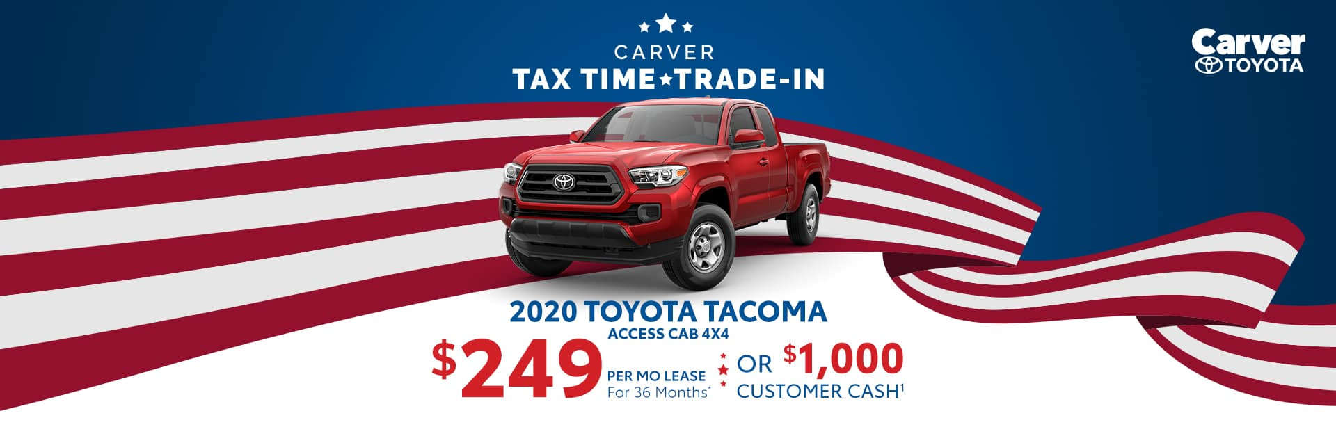 Only a $249 a month lease on a new Tacoma near Shelbyville, Indiana