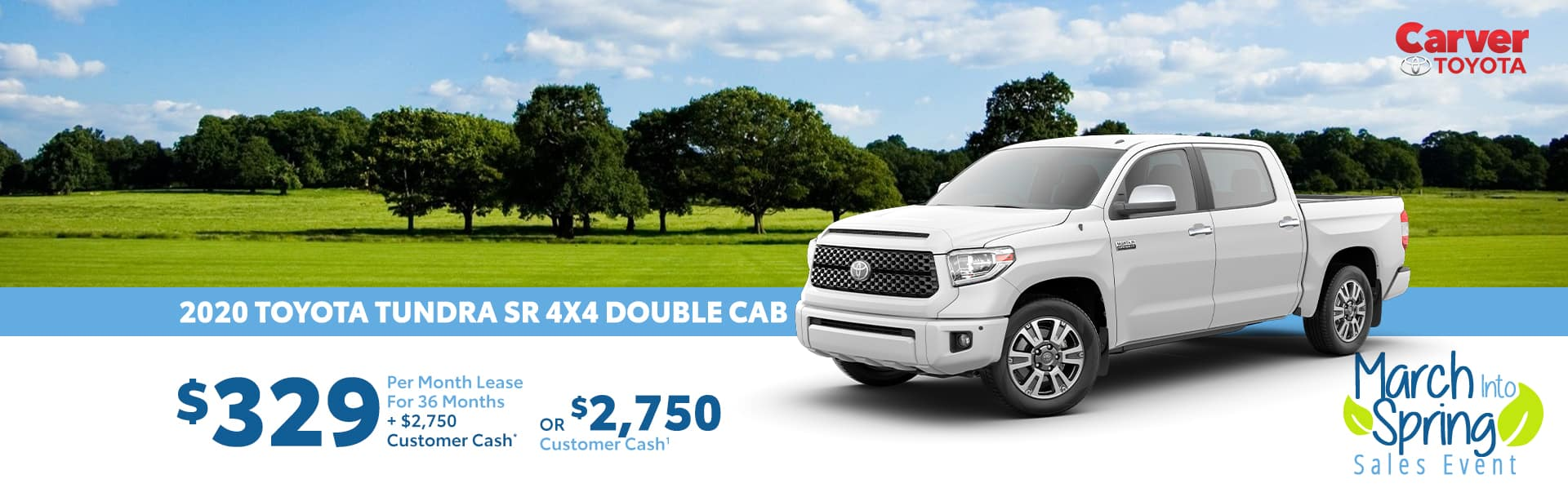 Lease a New Tundra for $329 a month near Columbus, Indiana