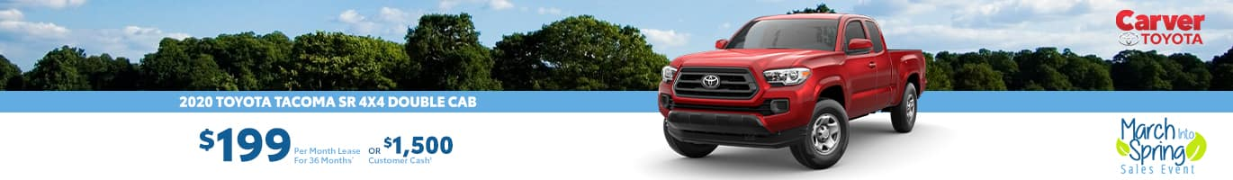Only a $199 a month lease on a new Tacoma near Shelbyville, Indiana