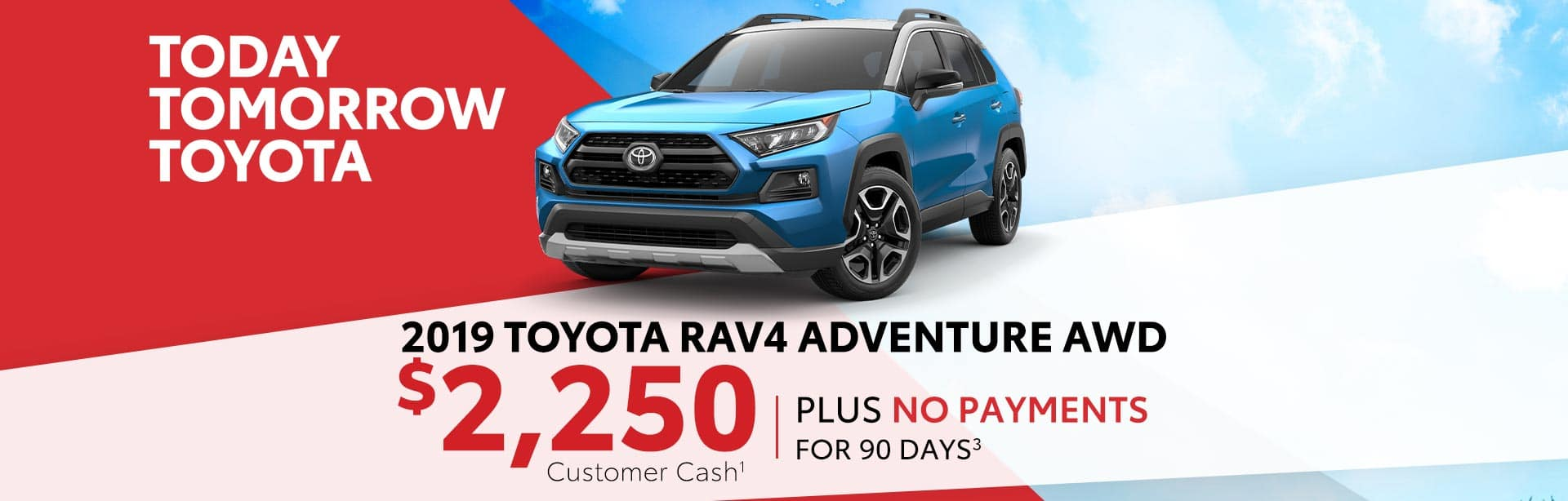 No Payments for 90 days on a new Rav4 in Taylorsville, Indiana