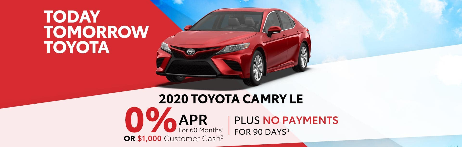 Finance a 2020 Camry for 0% near Franklin, Indiana