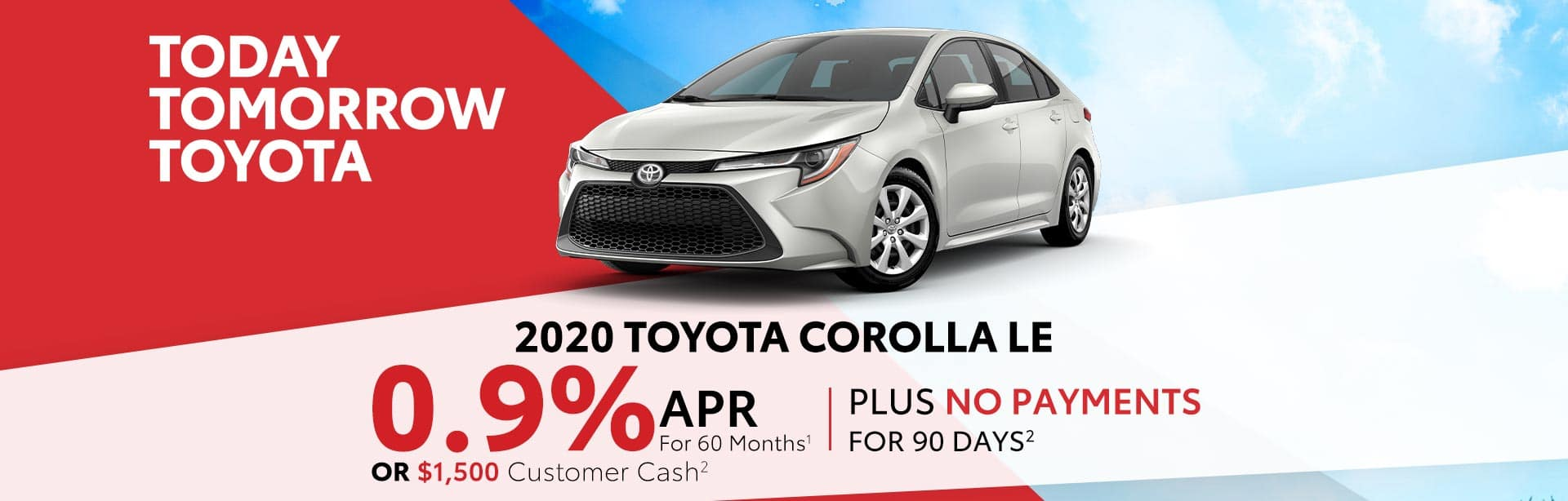 Finance a 2020 Corolla for 0.9% near Indianapolis, Indiana