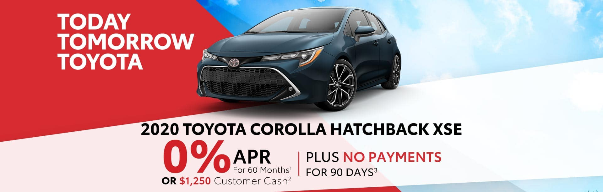 0% APR on a new 2020 Corolla Hatchback near Columbus, Indiana