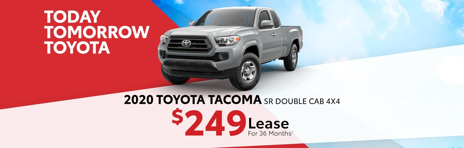 Lease a New Tacoma for $249 a month near Franklin, Indiana