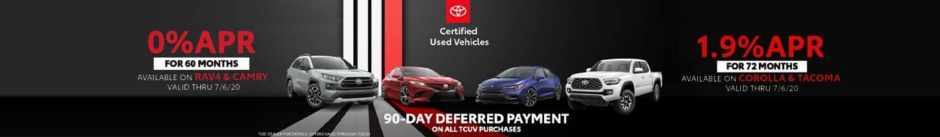 90 Day Deferred Payment on all Certified Used Vehicles near Columbus, Indiana