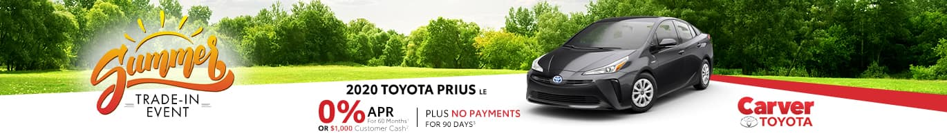 Finance a New Prius at 0% in Taylorsville, Indiana