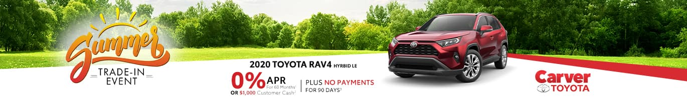 No Payments for 90 days on a new RAV4 near Bloomington, Indiana
