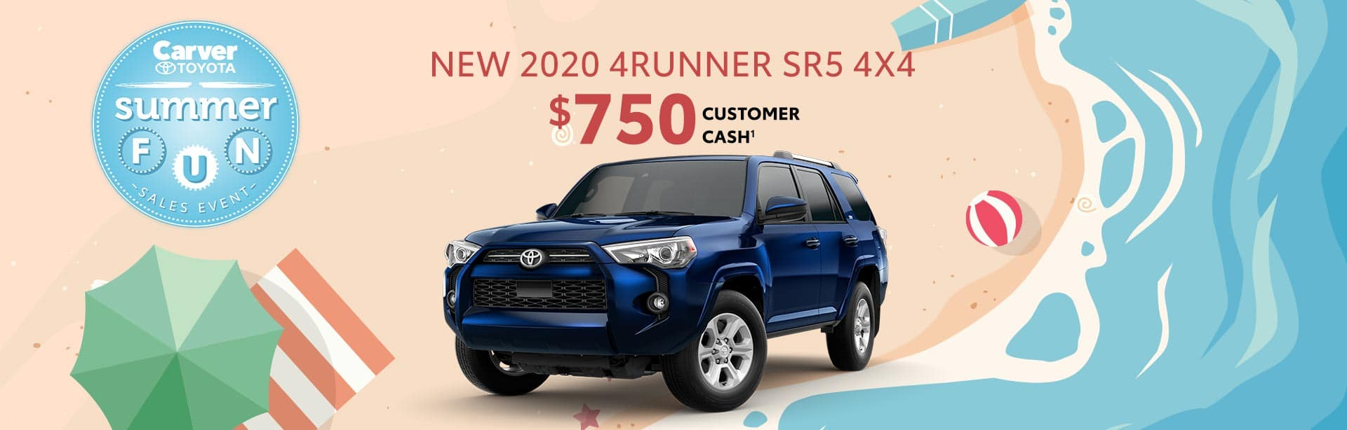 $750 Customer cash when you buy a new 4Runner near Franklin, Indiana