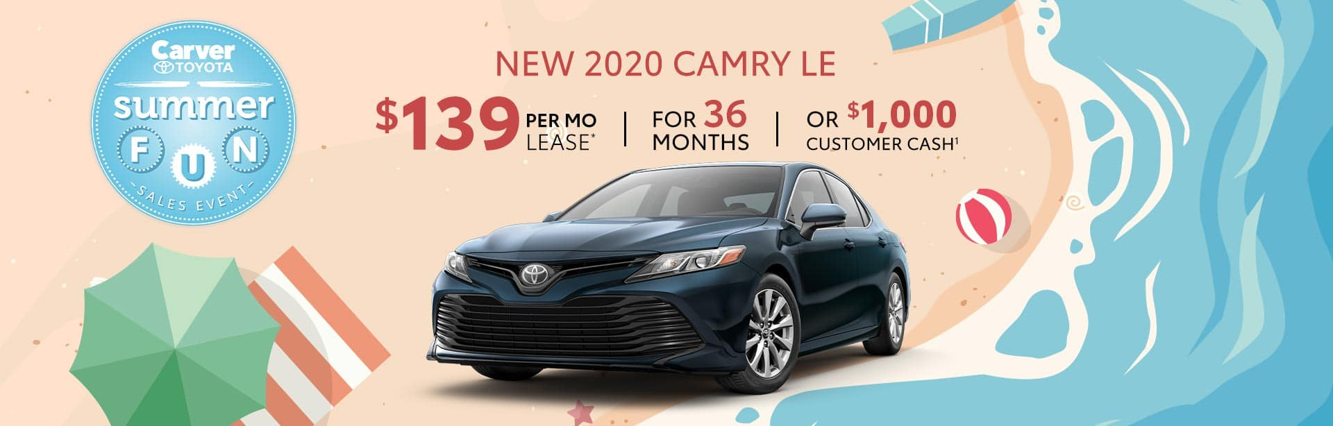 Lease a 2020 Camry near Franklin, Indiana