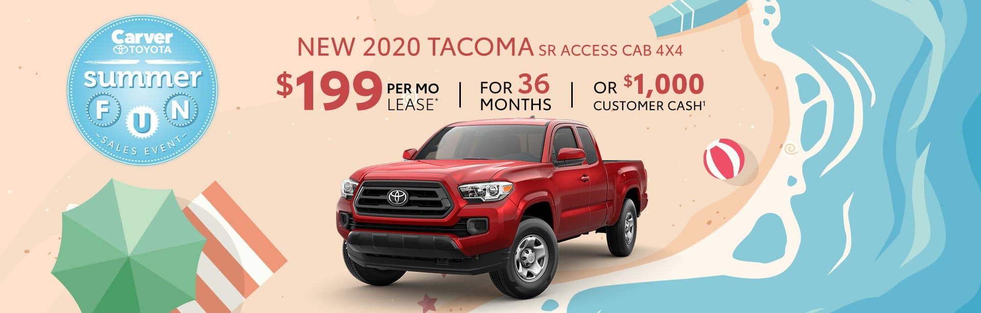 Lease a New Tacoma for $199 a month near Franklin, Indiana
