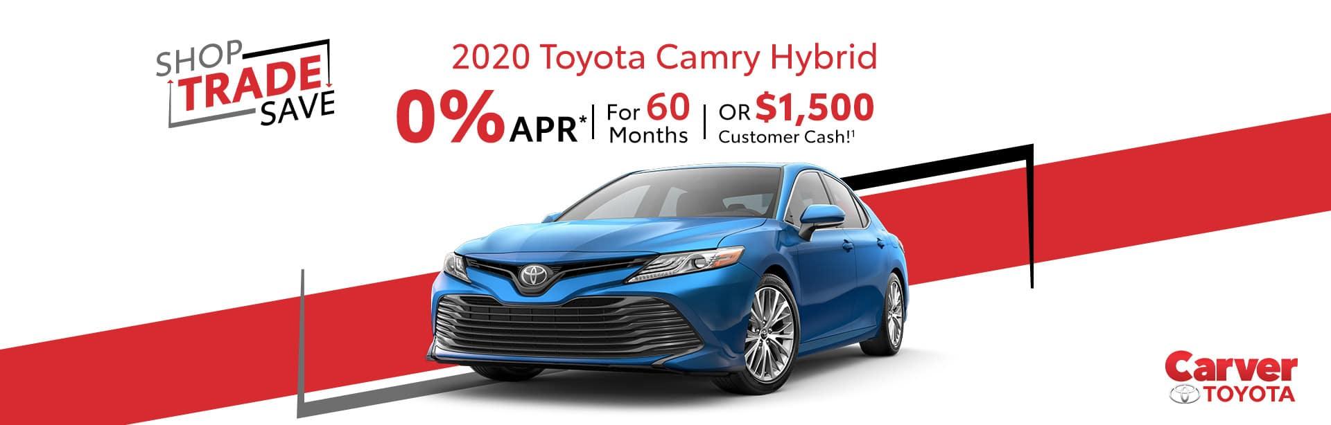 Lease a 2020 Camry Hybrid near Franklin, Indiana