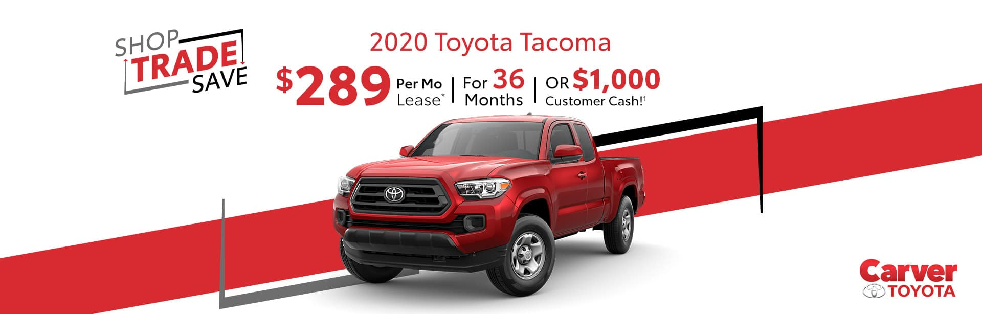 Lease a New Tacoma for $289 a month near Franklin, Indiana