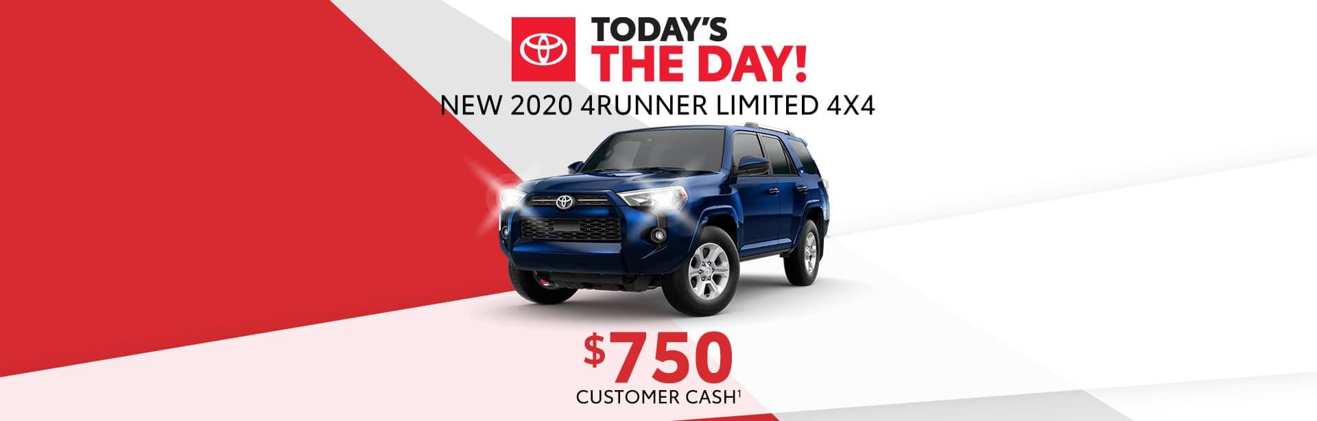 $750 Customer cash when you buy a new 4Runner near Franklin, Indiana