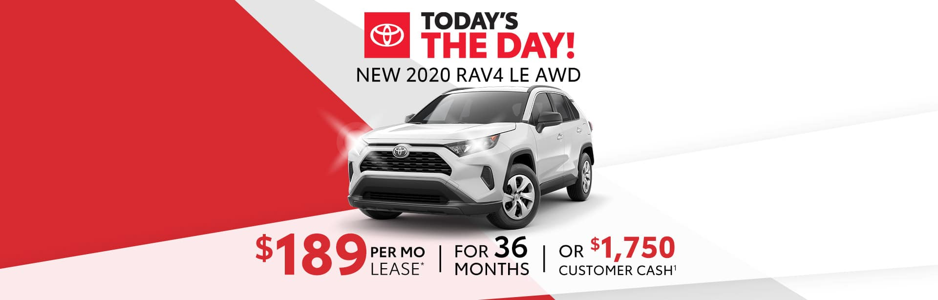 Lease Special on a new RAV4 in Columbus, Indiana