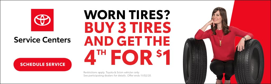 Carver Toyota Buy 3 Tires and Get the 4th for $1