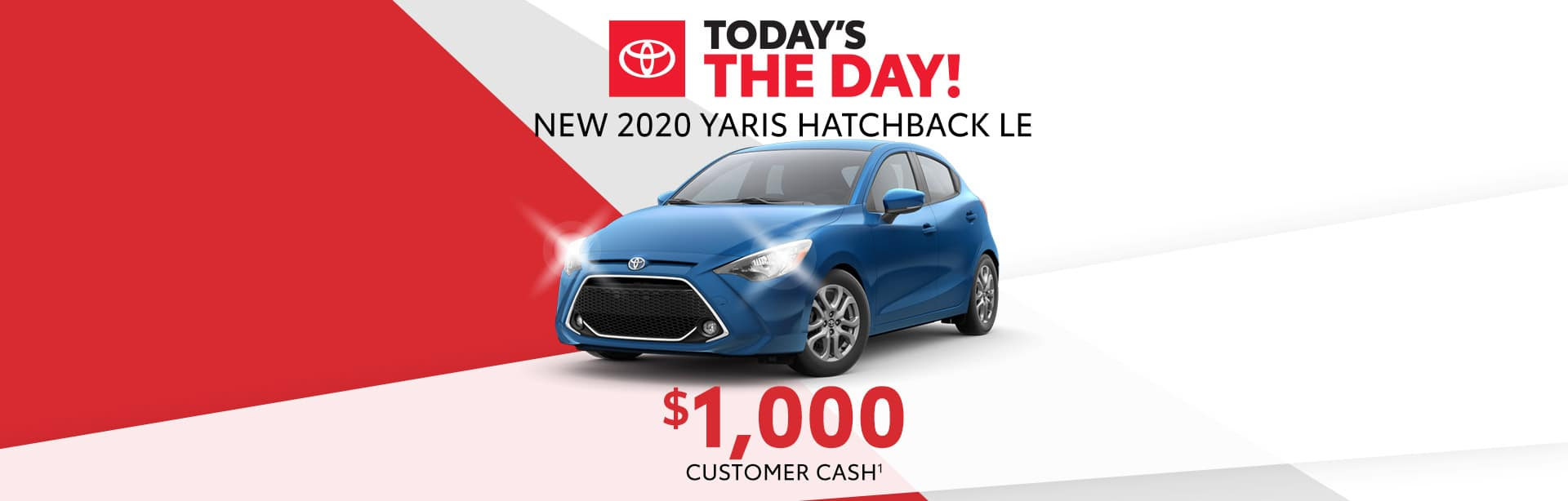 $1,000 cash back on a New Toyota Yaris near Indianapolis, Indiana