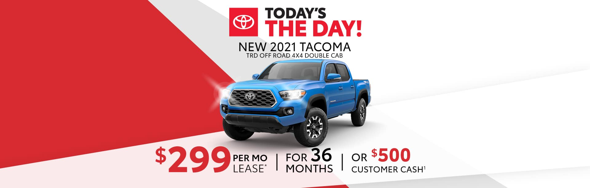 Lease a New Tacoma for $299 a month near Shelbyville, Indiana