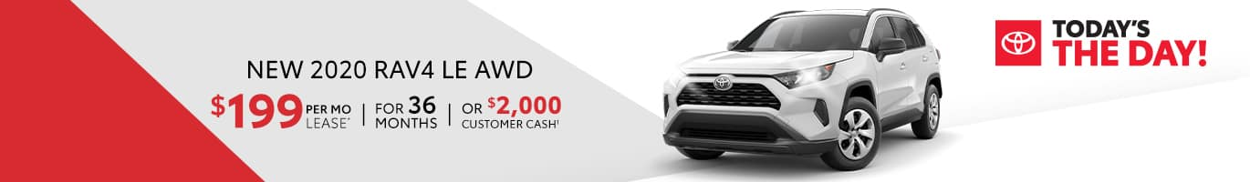 Lease Special on a new RAV4 in Shelbyville, Indiana