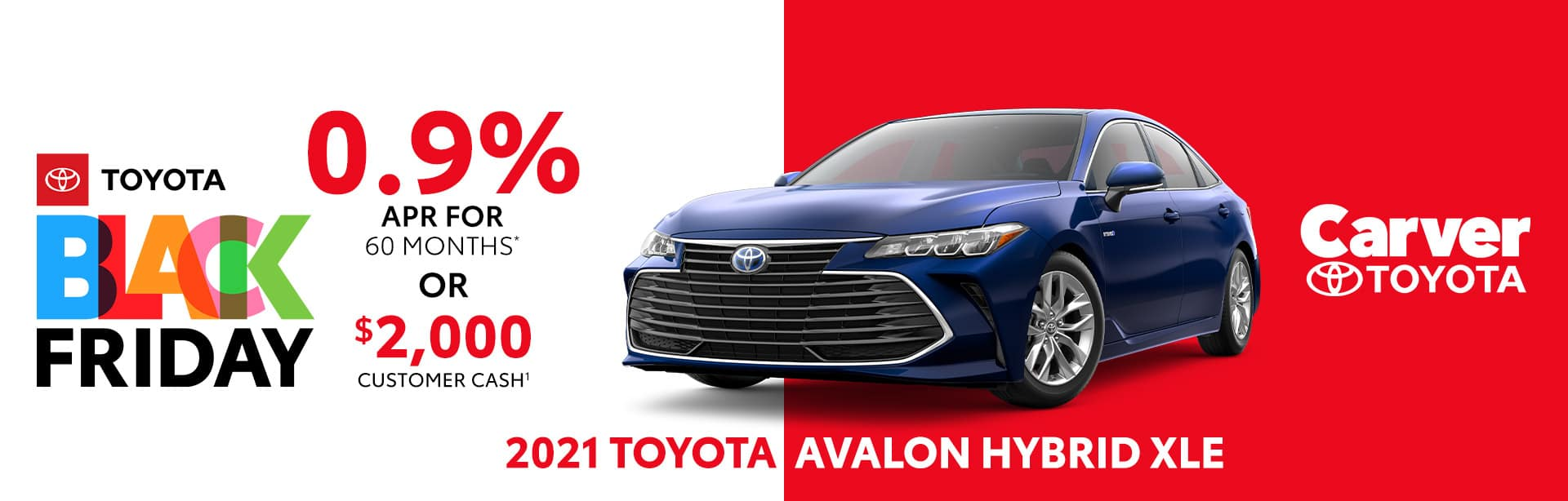 Best finance deal on the new 2021 Toyota Avalon near Columbus, IN