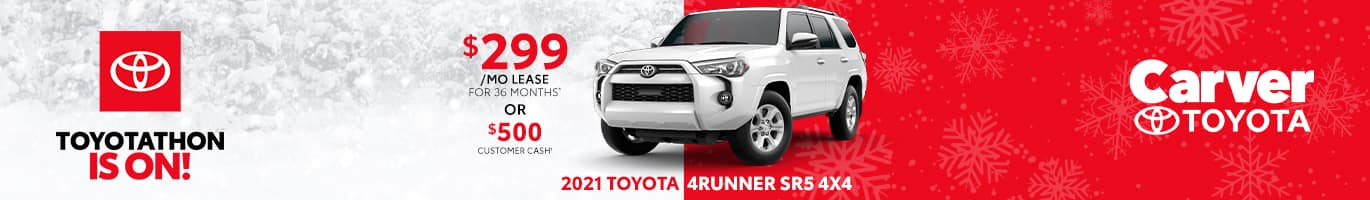 Best lease deal on the all-new 2021 Toyota 4Runner near Columbus Indiana